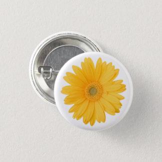 Helle gelbe Gerbera-Gänseblümchen-Blume Runder Button 2,5 Cm