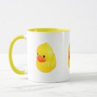 Helle gelbe Gummiente Tasse