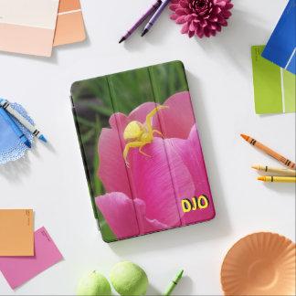 Helle gelbe Krabbenspinne-Rosa-Tulpe Ihre Initiale iPad Air Hülle