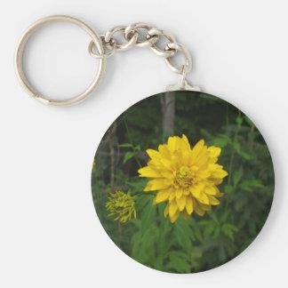 Helle gelbe Ringelblumen-Blume Schlüsselanhänger