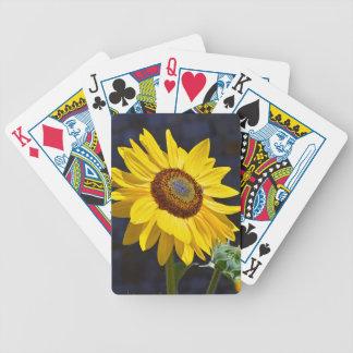 Helle gelbe Sonnenblume Bicycle Spielkarten