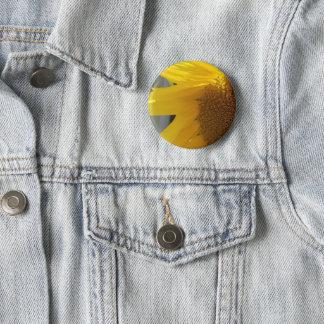 Helle gelbe Sonnenblume Runder Button 5,1 Cm
