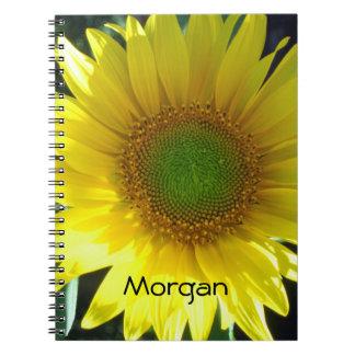 Helle gelbe Sonnenblume Spiral Notizblock