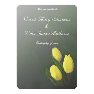 Helle gelbe Tulpe-Blumen, die Einladung Wedding