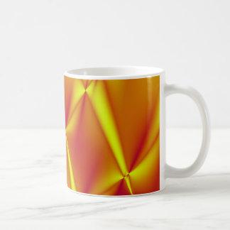 Helle gelbe und orange Fraktal-Kaffee-Tasse Kaffeetasse