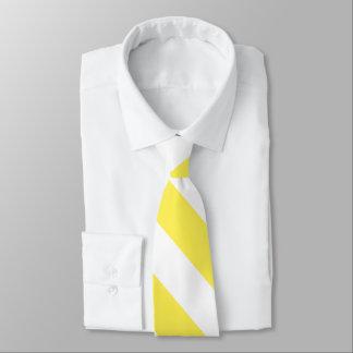Helle gelbe und weiße gestreifte Neonkrawatte Krawatte