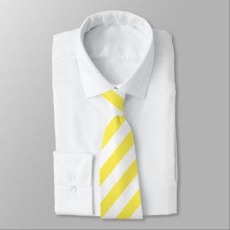 Helle gelbe und weiße Streifen-Neonkrawatte Krawatte