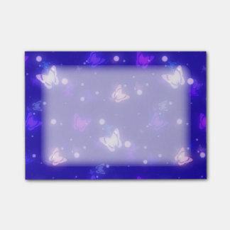 Helle Glühen-Schmetterlings-dunkelblauer Entwurf Post-it Klebezettel