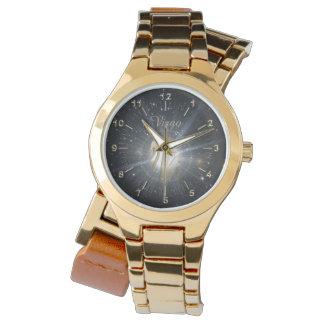 Helle goldene Jungfrau Armbanduhr
