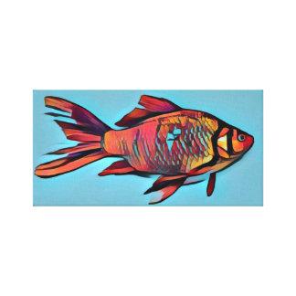 Helle Goldfisch-Malerei Leinwanddruck