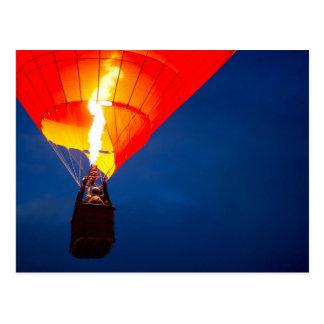 Helle Heißluft-Ballon-Flamme Postkarten