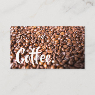 Bright Coffee Beans Simple Mountain Punch-Card