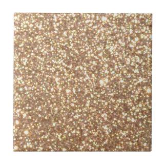 Helle kupferne Glitter-Glitzern Fliese