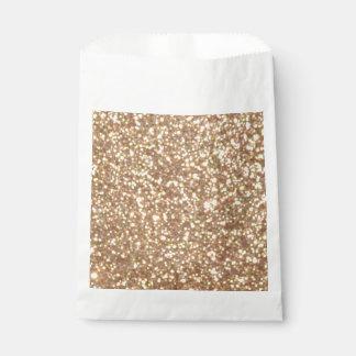 Helle kupferne Glitter-Glitzern Geschenktütchen