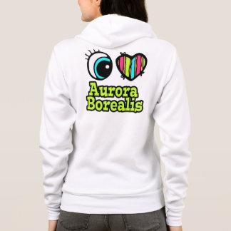 Helle Liebe-Aurora Borealis des Augen-Herz-I Hoodie
