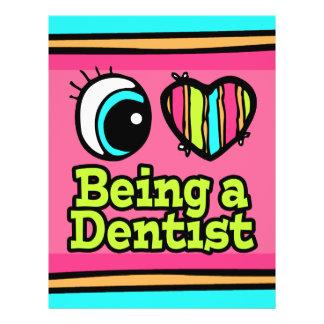 Helle Liebe des Augen-Herz-I, die ein Zahnarzt ist 21,6 X 27,9 Cm Flyer