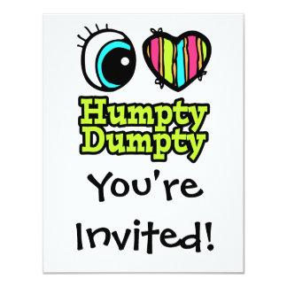 Helle Liebe Humpty Dumpty des Augen-Herz-I Individuelle Einladungskarte