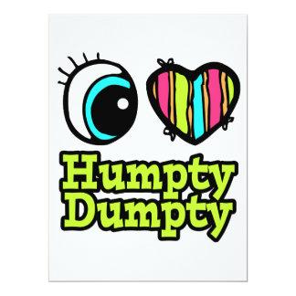 Helle Liebe Humpty Dumpty des Augen-Herz-I Ankündigung
