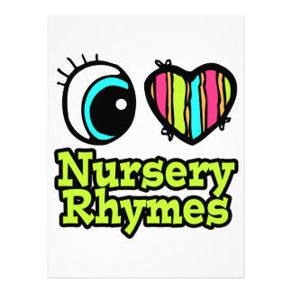 Helle Liebe-Kinderzimmer-Reime des Augen-Herz-I Personalisierte Einladungen