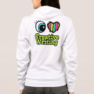 Helle Liebe-kreatives Schreiben des Augen-Herz-I Hoodie