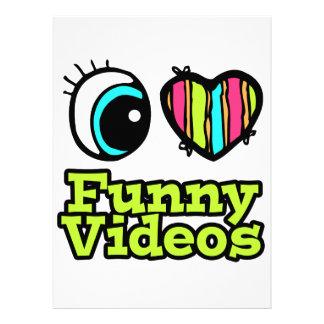 Helle Liebe-lustige Videos des Augen-Herz-I Individuelle Ankündigungen
