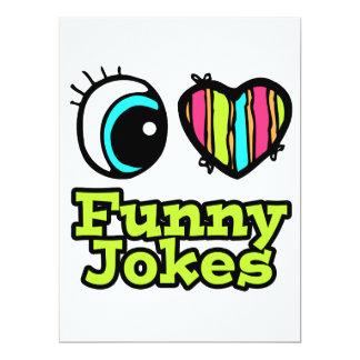 Helle Liebe-lustige Witze des Augen-Herz-I Einladungskarte