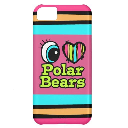 Helle Liebe-polare Bären des Augen-Herz-I iPhone 5C Schale
