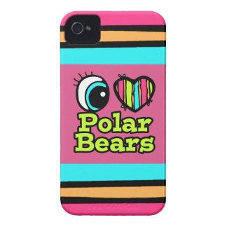 Helle Liebe-polare Bären des Augen-Herz-I iPhone 4 Case-Mate Hüllen