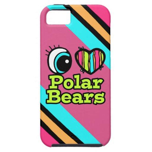 Helle Liebe-polare Bären des Augen-Herz-I Hülle Fürs iPhone 5