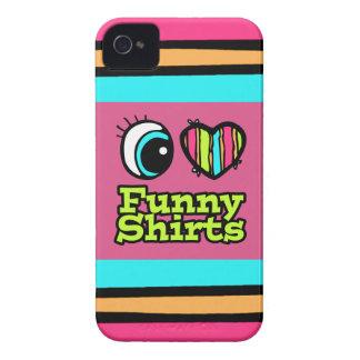 Helle Liebe-witzige Shirts des Augen-Herz-I iPhone 4 Cover