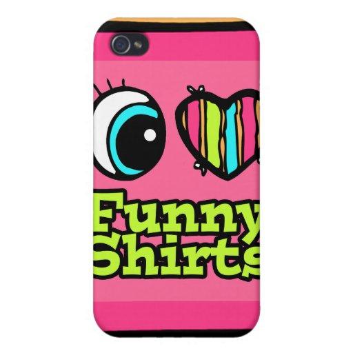 Helle Liebe-witzige Shirts des Augen-Herz-I iPhone 4 Case