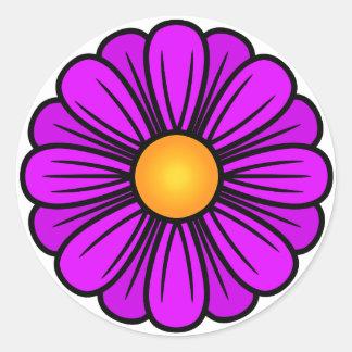 Helle lila Blume I Runder Aufkleber