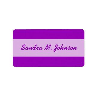 helle lila Farbe Adressaufkleber