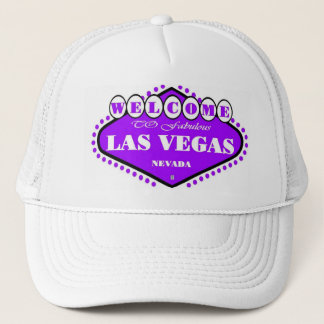 HELLE lila Las- Vegaszeichen-Kappe Truckerkappe
