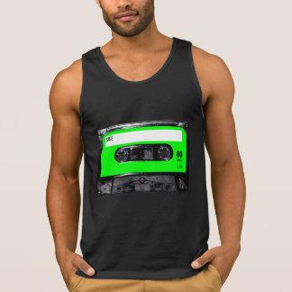 Helle Limone grüne Aufkleber-Kassette Tank Top