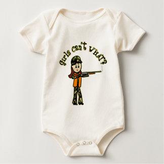 Helle Mädchen-Jagd Baby Strampler