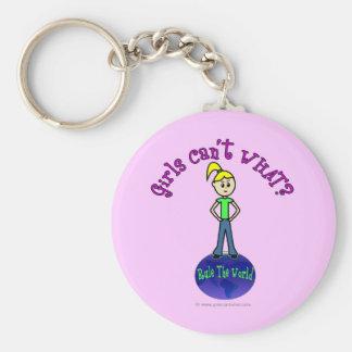 Helle Mädchen ordnen die Welt an Schlüsselanhänger