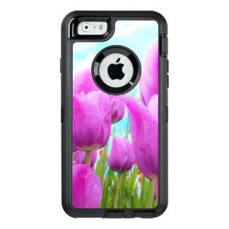 Helle magentarote weibliche Tulpe-blauer Himmel OtterBox iPhone 6/6s Hülle