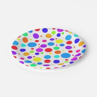 Helle mehrfarbige Stellen Pappteller