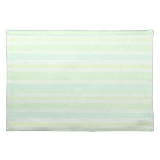 Helle Minze Stripes Frühlings-und Sommer-Tischset Stofftischset