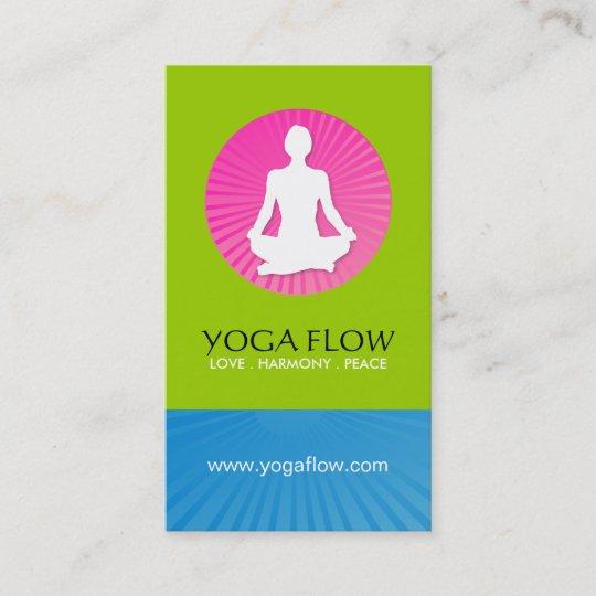 Helle Moderne Yoga Visitenkarten Visitenkarte Zazzle De