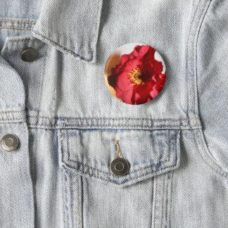 Helle Mohnblume Runder Button 5,7 Cm