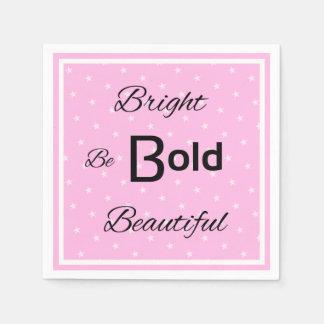 Helle mutige schöne inspirieren Rosa Servietten