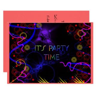 Helle Neonfarben, kundenspezifische Party Karte