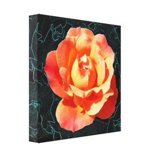 Helle orange Rose Leinwanddruck