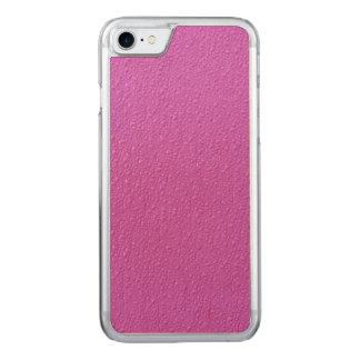 Helle pinkfarbene modische Neonfarben Carved iPhone 8/7 Hülle