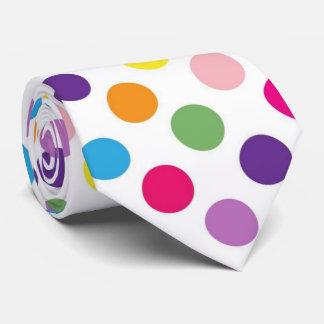 Helle Polkapunktmuster-Krawatte Personalisierte Krawatte