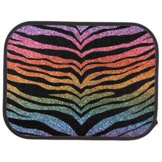 Helle Regenbogen-Glitter-Tigerstreifen Automatte