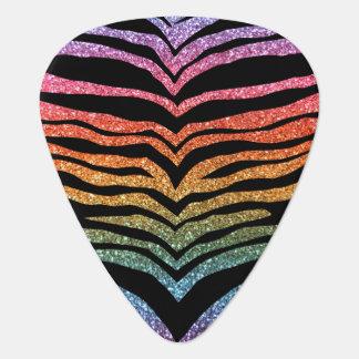 Helle Regenbogen-Glitter-Tigerstreifen Plektrum