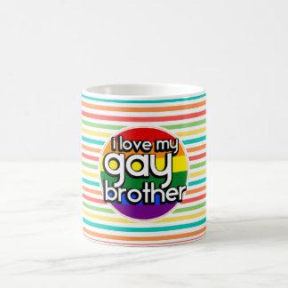 Helle Regenbogen-Streifen; Homosexueller Bruder Kaffeetasse